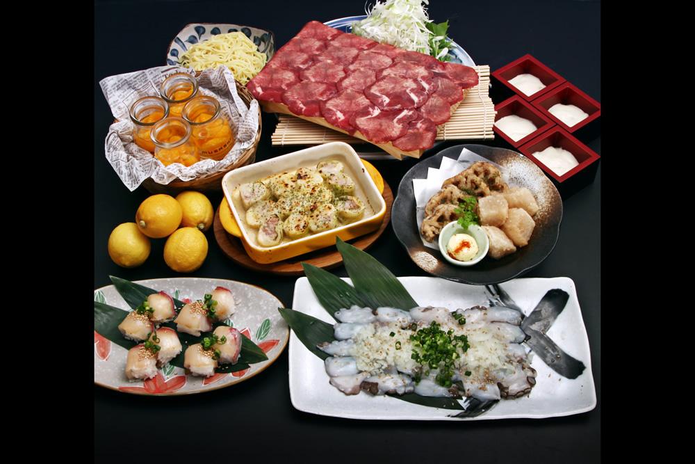 【11/26~】<武蔵名物>瀬戸内地だこの鉄板焼き&ブリのてまり寿司+牛タンしゃぶしゃぶコース