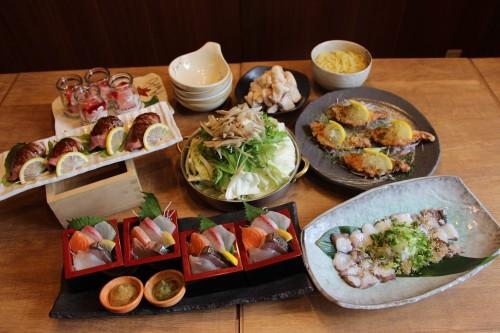 武蔵の宴会メニューが冬の新メニューになりました!